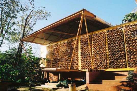 Good Unique Open Air Bamboo House Design 2011