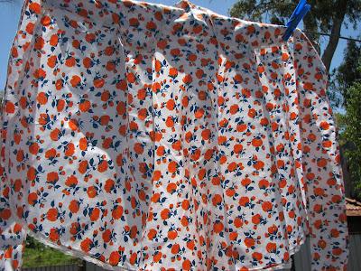 orange flower apron