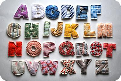 kumaş mıknatıslı harfler