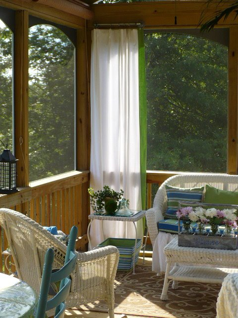Curtains Ideas curtains for screened in porch : The Screened Porch Is Open For Summer Fun! - A Cultivated Nest