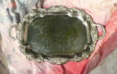 paint a silver tray