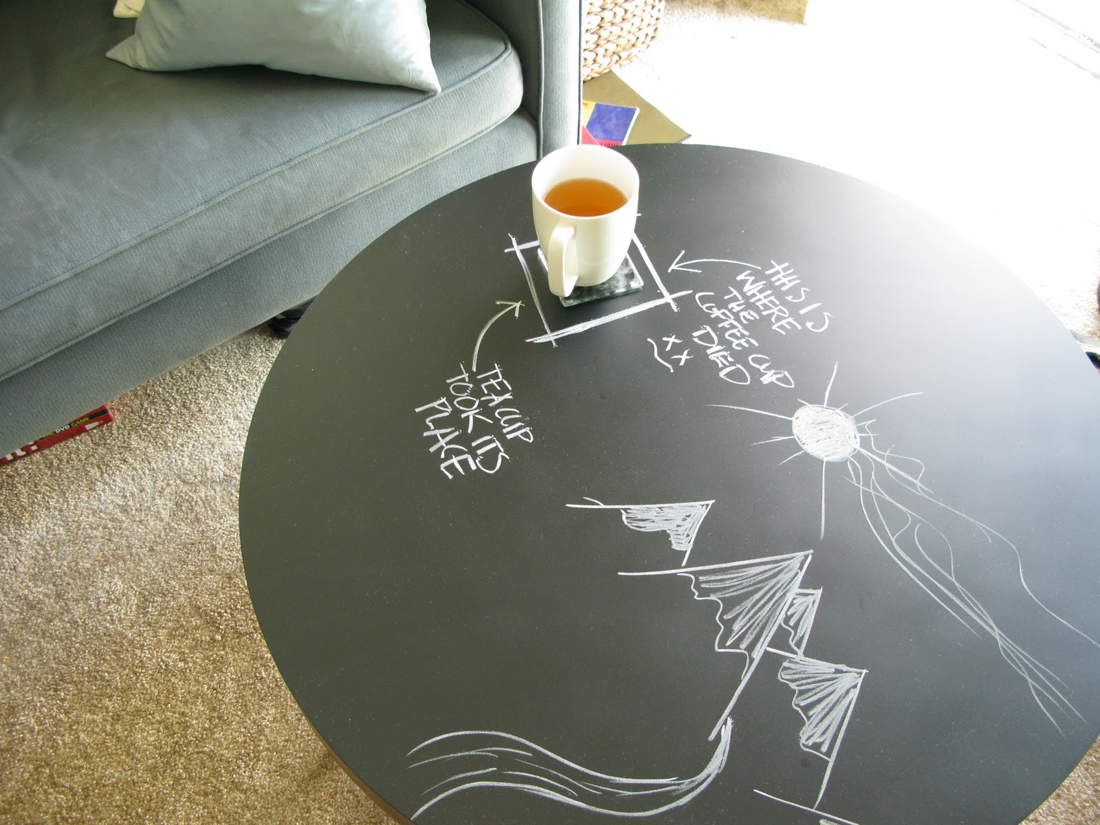The Chalkboard Coffee Table