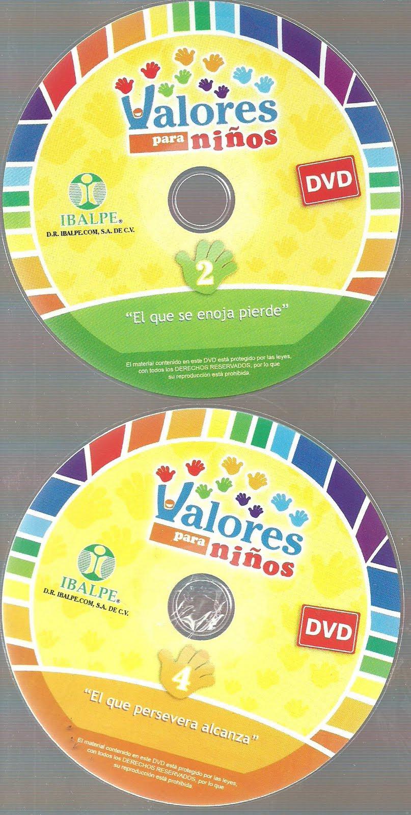 PROFESIONAL: LIBROS y DVDS : VALORES PARA NIÑOS (PREESCOLAR IBALPE