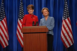 Tina Fey as Sarah Palin & Amy Poehler as Hillary Clinton Saturday Night Live SNL