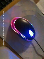 glow-in-the-dark computer mouse head
