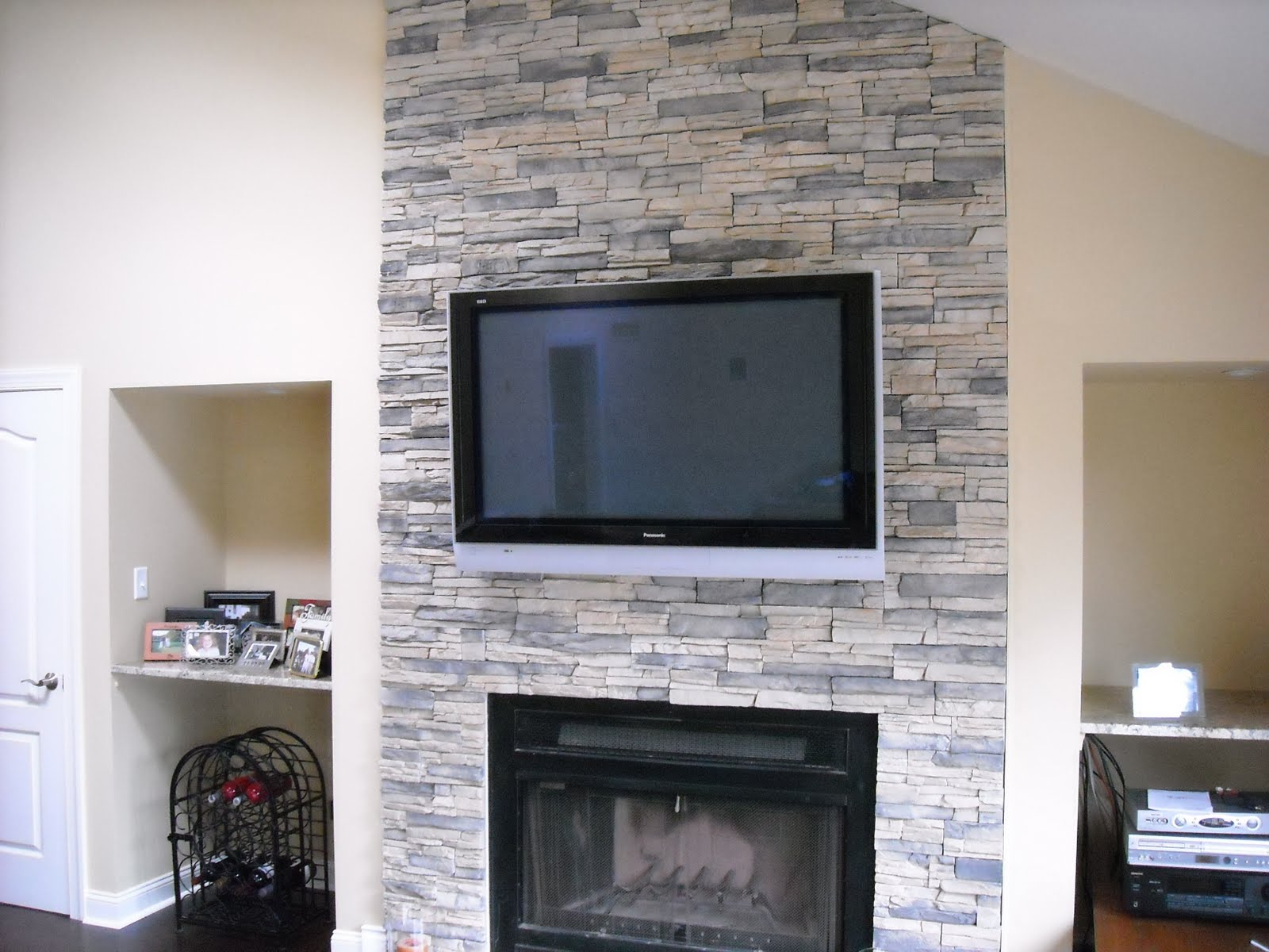 How To Install A Stone Veneer Fireplace Surround Party Invitations Ideas