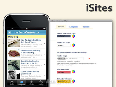 isites iphone 1 iSites : Creez une Application iPhone en 5 Min (video)