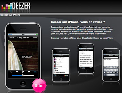 iphone deeze1 Deezer iPhone iPod Touch : Musique à Gogo (gratuit)
