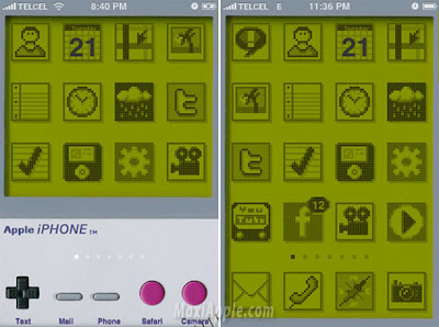 gameboy iphone1 iPhone 3G : Theme iGameboy Bluffant (gratuit)
