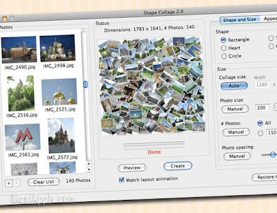 shape collage 2 - Shape Collage OSX : Creez Vos Photo Collage (gratuit)
