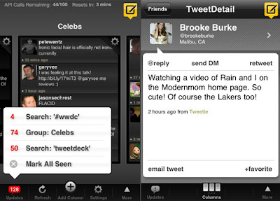 tweetdeck iphone 2 TweetDeck iPhone : Excellent Client Twitter (gratuit)