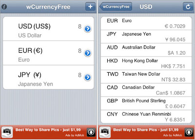 wCurrency iPhone wCurrency iPhone : Convertisseur de Devises (gratuit)
