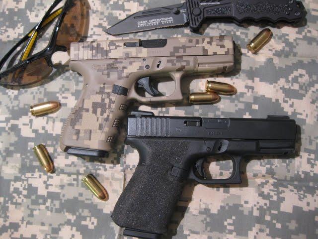 Std Glock vs camo Glock