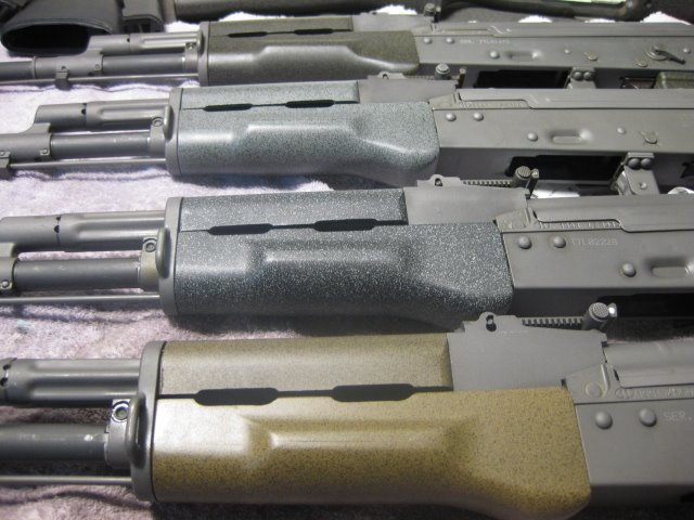 Ak-74's all with forends coated