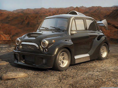 wallpaper, fiat 600, tuning, autos, motos