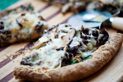 Shiitake Flatbread Pizza