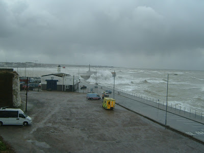 The picture above shows a little Gale Force 9 throwing tons of seawater over ...