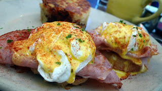snooze benedict with signature english muffins