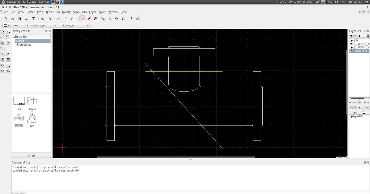 Linux Aided Design: Application Review: LibreCAD (Part I)