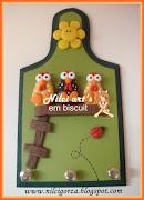 Marcadores: porta chaves em biscuit, porta chaves para cozinha