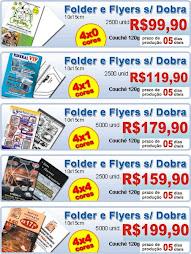 Panfleto Folheto Flyers 10x15 4/0 Cor Couchê 120gr 5.000uni