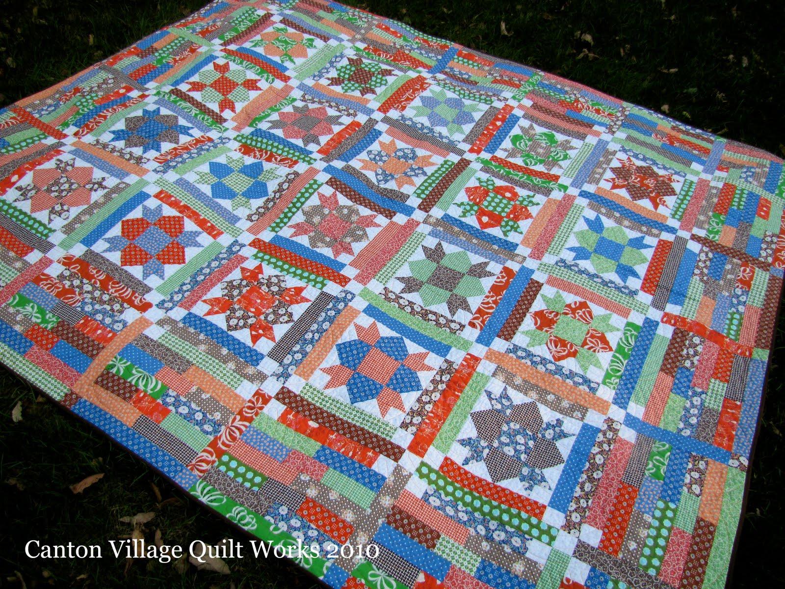Canton Village Quilt Works Weathervane Quilt Finished
