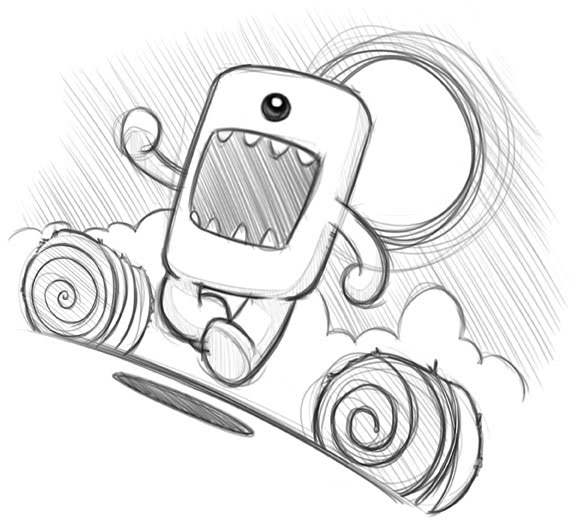 domo kun coloring pages - photo#11