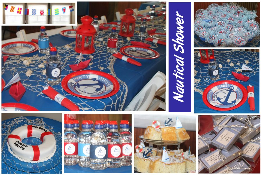 Real party showcase celebrations at home for Baby shower nautical decoration