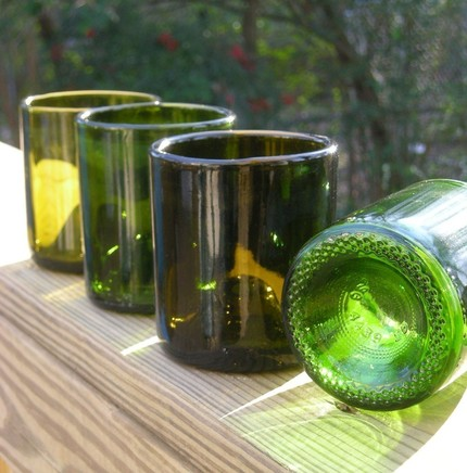 Upcycle the art of the r 39 s a taste for upcycled wine bottles for Glasses made out of bottles