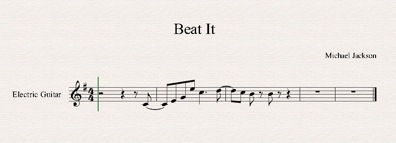 how to play beat it riff on guitar