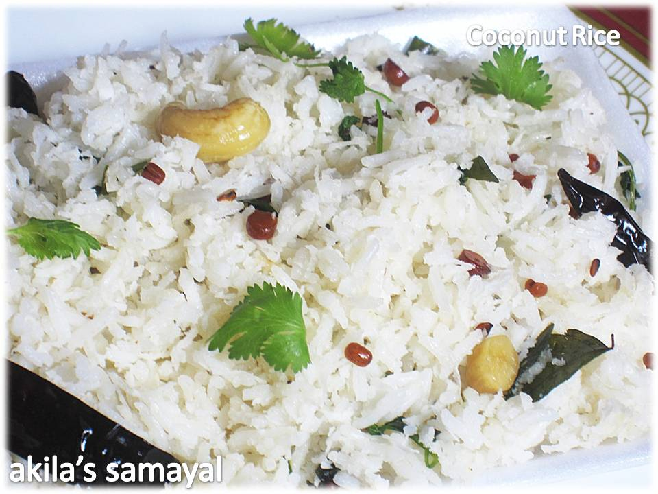 Learning-to-cook: Coconut Rice (Thengai Sadam)