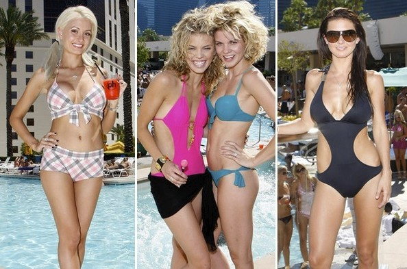 sexy celebs pool party