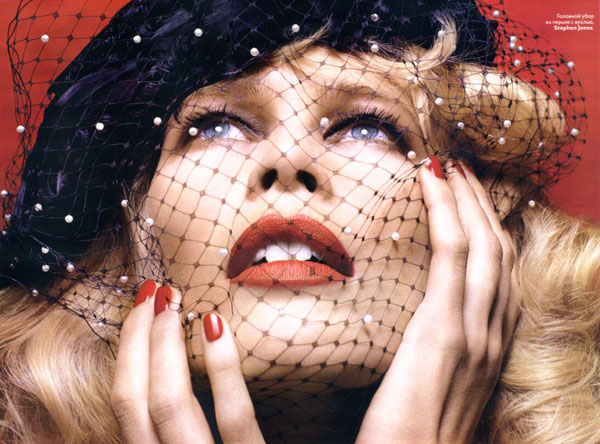 claudia schiffer in dec vogue mag