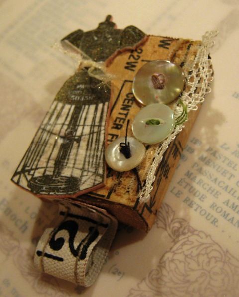 Sherry S Simple Blog Sewing Themed Altered Matchbox