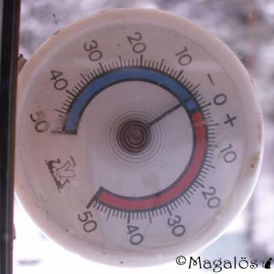Klockan 10.06 - Dagens temperatur, knappt fyra minusgrader