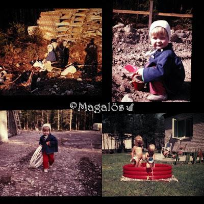 Collage med nostalgitema.