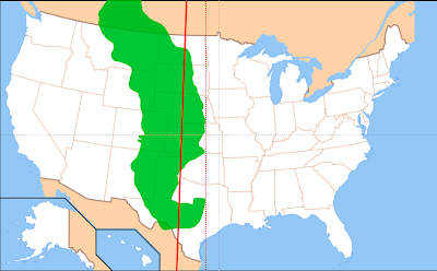 This is a456 the 98th meridian map of great plains in green with 100th and 98th meridianssolid and dashed lines respectively publicscrutiny Gallery