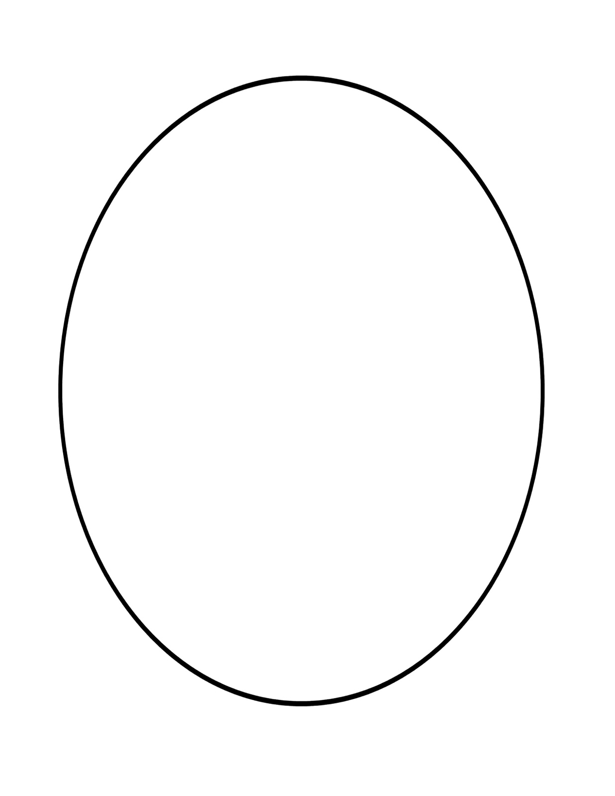Free Coloring Pages Of Shape Oval Oval Coloring Page