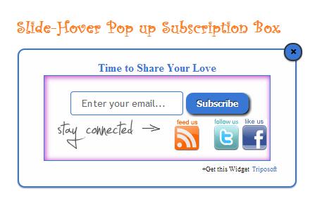 Scrolling Slide-Hover Pop up Subscription Box for Blogger : eAskme