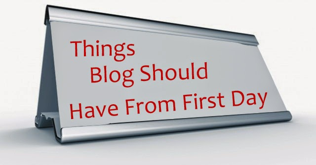 Things Blog Should Have From First Day : eAskme