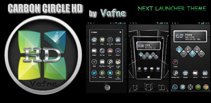 Next Launcher Theme Carbon HD apk