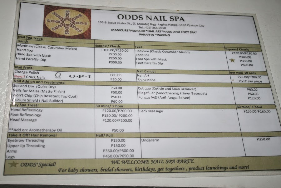 odds cafe and nail spa