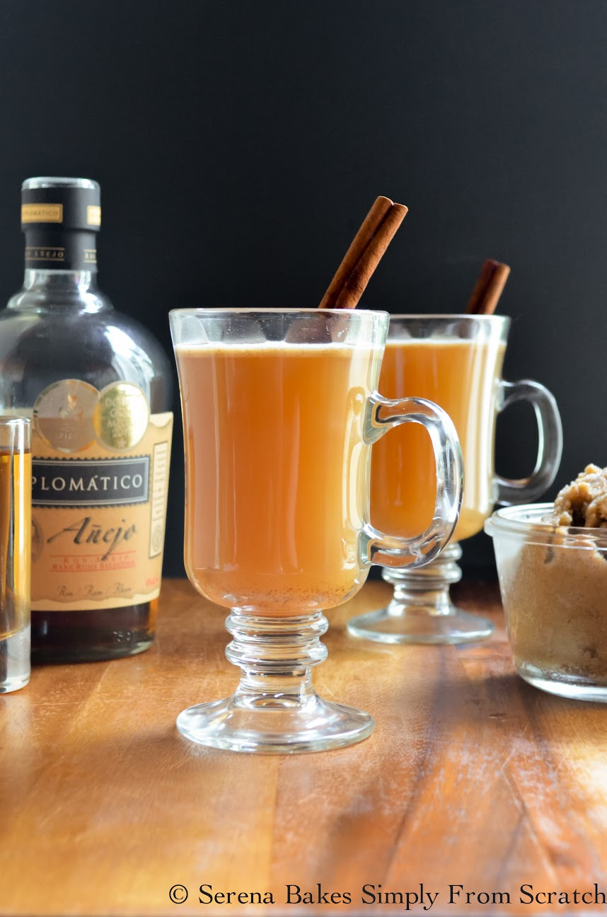 assemble Hot Apple Cider Buttered Rums: Place 2 teaspoons Buttered Rum ...