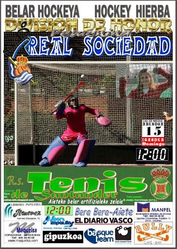 Cartel partido REAL SOCIEDAD - R.S. Tenis de Santander
