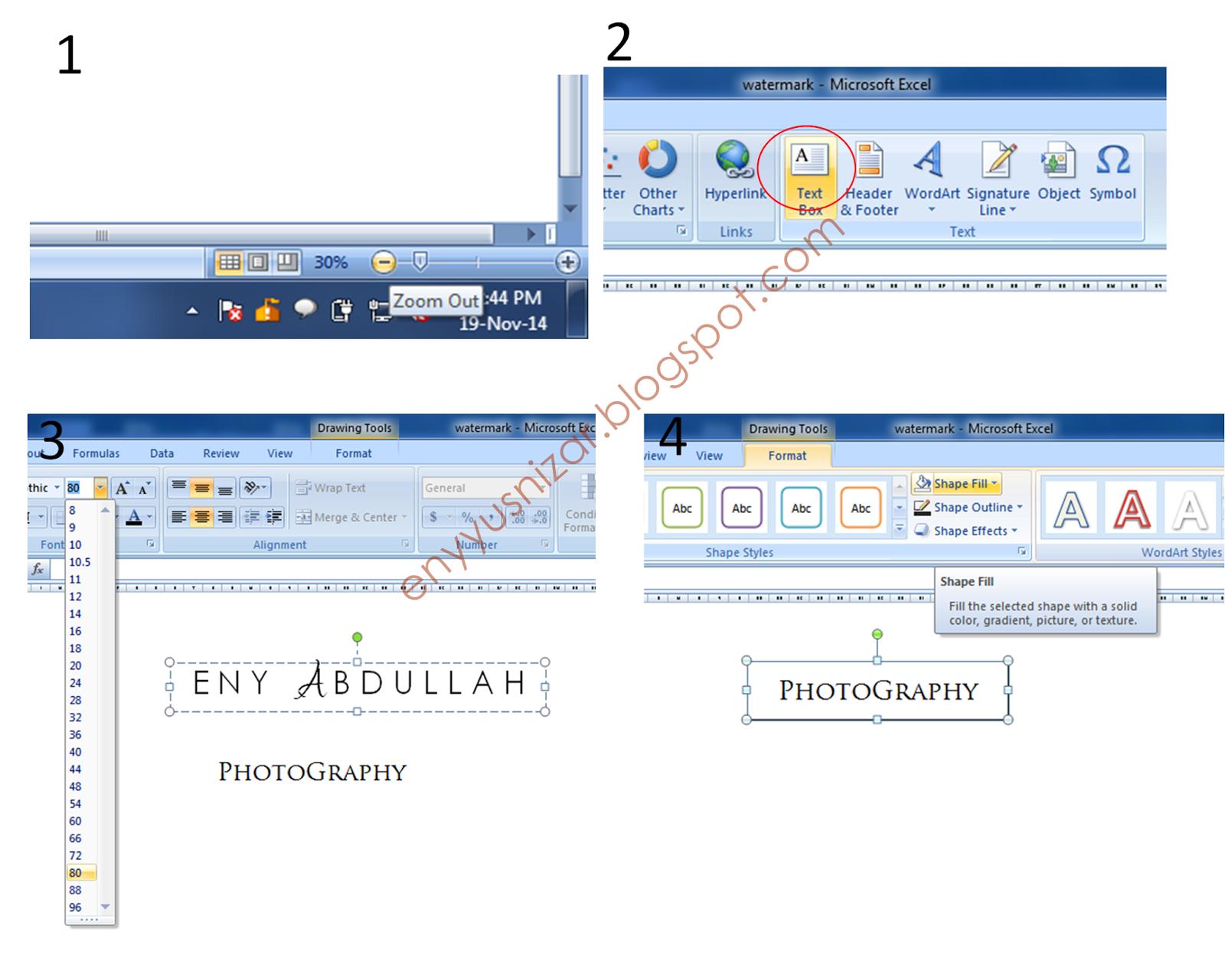 Tutorial Design Watermark Sendiri Menggunakan Microsoft Excel