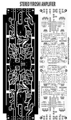 PCB Layout design for stereo power amplifier yiroshi.