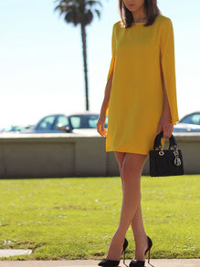 www.shein.com/Yellow-Crew-Neck-Slit-Sleeve-Shift-Dress-p-258627-cat-1727.html?aff_id=2687