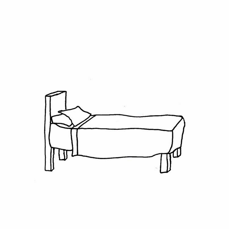 Black And White Clipart Of A Bed | Roole
