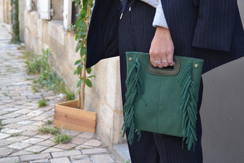 sac à frange vert Sammydress