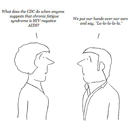 cfs, chronic fatigue syndrome, aids, cdc, HIV-negative aids, cartoon